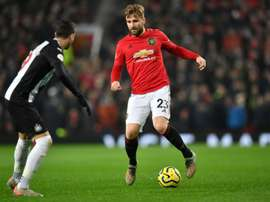 Luke Shaw is disappointed United dropped points once again. AFP