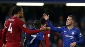 Prováveis escalações de Liverpool e Chelsea. AFP