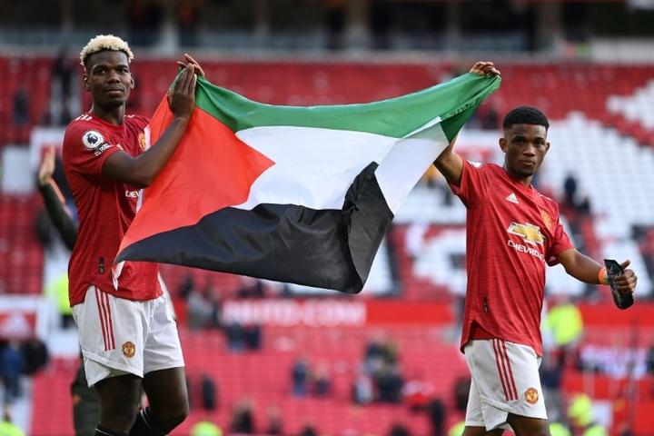 Paul Pogba affiche son soutien à la Palestine. AFP
