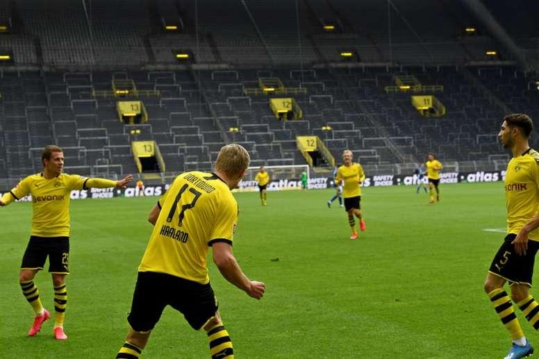 Florentino Pérez felicitó al Borussia Dortmund por el partidazo. AFP