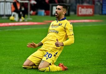 El Bologna cerrará la tercera jornada de la Serie A ante el Hellas Verona. AFP