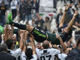 Buffon ripercorre la sua carriera. AFP