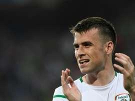 Seamus Coleman isn't happy with his Republic of Ireland teammates. AFP