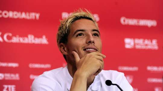Nasri pictured while at Sevilla. AFP
