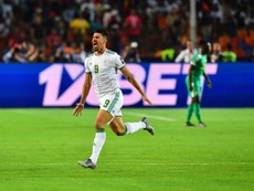Baghdad Bounedjah's second-minute goal gave Algeria their second Africa Cup of Nations title. AFP