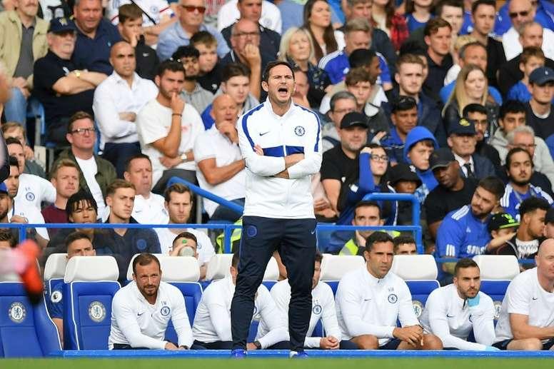 Lampard got a warm reception on his return to Stamford Bridge. AFP