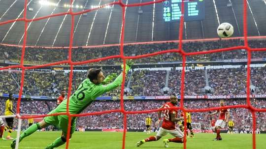 Ulreich save penalties from Rode and Bartra to give his side the victory. AFP