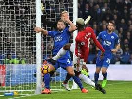 Les compos probables du match de Premier League entre Leicester et Man United. AFP