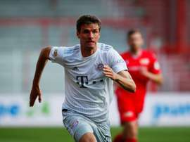 Thomas Muller admitted the atmosphere was strange at the Stadion an der Alten Forsterei. AFP