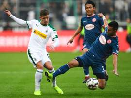 Thorgan Hazard scored twice for Gladbach. AFP