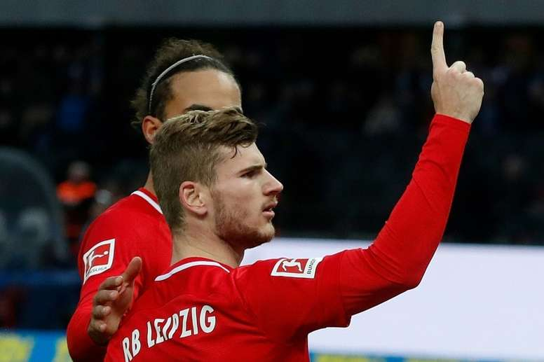 Werner double seals Leipzig's win in Berlin. AFP