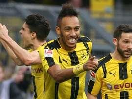 Borussia Dortmund obliterated Bayer Leverkusen in today's match. AFP