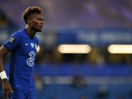 Tammy Abraham has yet to sign a new contract at Chelsea. AFP