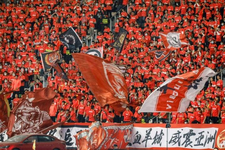 Los problemas económicos de Evergrande amenazan el futuro del Guangzhou FC. AFP