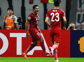 Hulk é um dos mais bem pagos do campeonato chinês. AFP