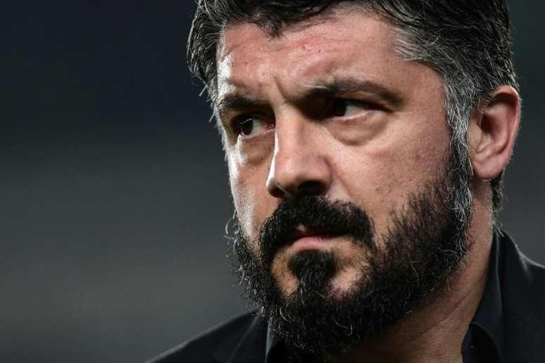 Gattuso priorizó la Europa League... ¡antes que el partido ante el Barça! AFP