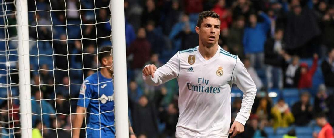 Ronaldo became only the second player to score 300 La Liga goals. AFP