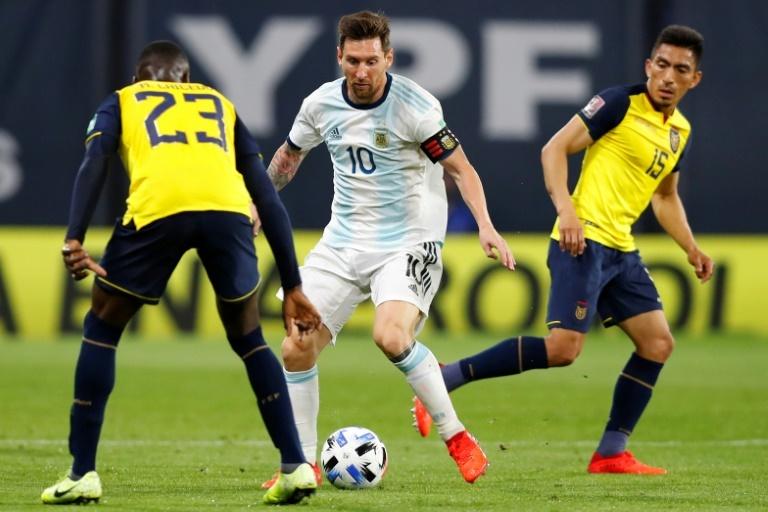Messi jogando pela Argentina na Copa América