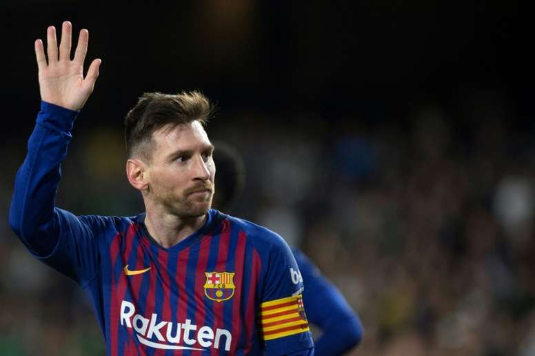 Lionel Messi has moved three goals clear of nearest rival Kylian Mbappe. EFE