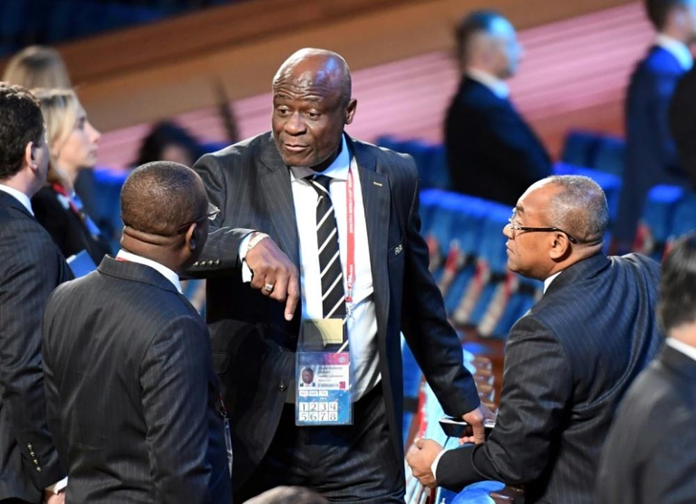 L'ancien président de la Fédération de la RD du Congo sanctionné pour manque d'intégrité. AFP