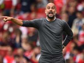 Guardiola has admitted that City aren't in the best condition. AFP