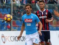 Napoli forward Manolo Gabbiadini eyes the ball against Crotone. AFP