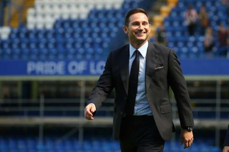 Lampard empezó su aventura en el Chelsea con empate a uno. AFP