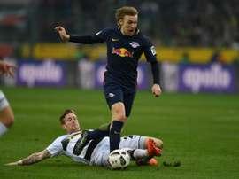 El Leipzig vuelve a tener al Bayern a sólo cinco puntos. AFP