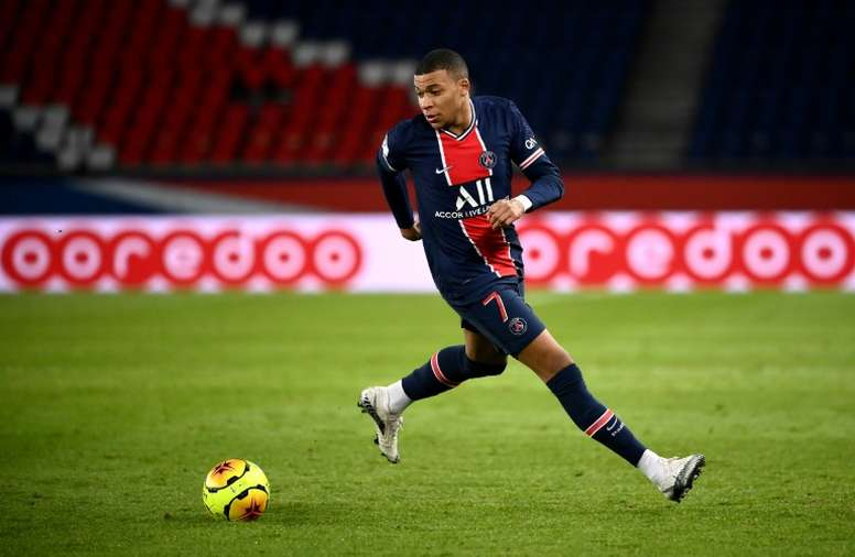 Kylian Mbappe has not scored in a year in Champions League. AFP