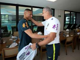 Reduced Brazil squad begins preparations for Copa America. AFP