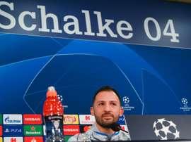 Schalke head coach under pressure after his side were smashed at home. AFP