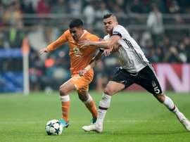 Pepe abrió el marcador en la visita del Karabukspor al campo del Besiktas. AFP/Archivo