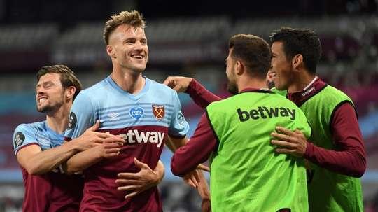 West Ham beat Chelsea 3-2. AFP