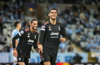 La Juventus goleó 0-3 al Malmö en su debut en Champions. AFP