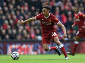 Alexander-Arnold has had a fantastic breakout season with Liverpool. AFP