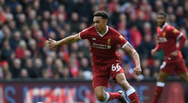 Alexander-Arnold goes from strength to strength. AFP