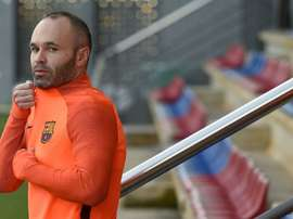 Iniesta has been offered a bumper contract that he will find it hard to refuse. AFP
