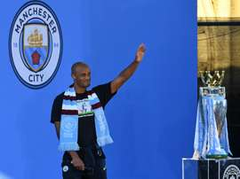 Kompany reportedly turned down offer to be Guardiola's assistant. AFP