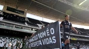 Protestos voltam a ocorrer em jogos do Campeonato Carioca. AFP/Arquivo