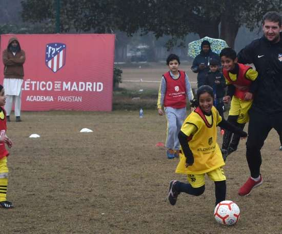 Atletico Madrid are trying to grow their brand in the cricket-mad country. AFP
