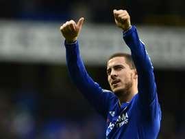 Eden Hazard scored Chelsea's equaliser against Spurs on May 2. BeSoccer