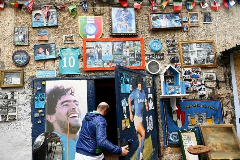 Modest Maradona museum pays tribute to patron saint of Naples