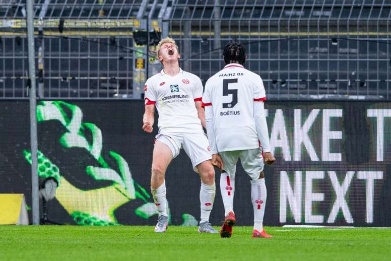 Mainz won 0-2 at Dortmund in the Bundesliga. AFP