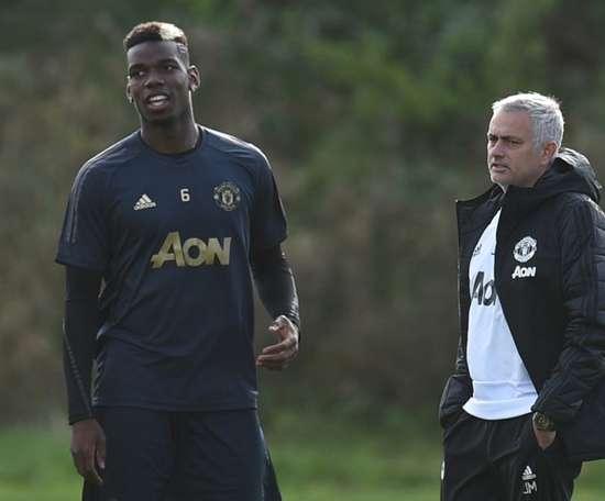 Mourinho a évoqué la polémique sur Pogba. AFP