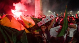 Algeria fans celebrated their team's victory all around France. AFP