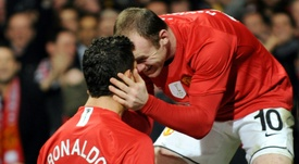 Wayne Rooney and Cristiano Ronaldo Manchester United. AFP