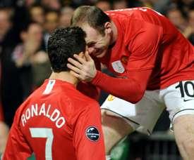 Rooney et Cristiano Ronaldo a été un duo d'enfer. AFP