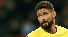 Giroud claimed his hat-trick with ease. AFP