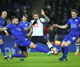Bradley Johnson in action against Leicester City. AFP