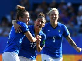 Italy's Aurora Galli scored her third goal of the tournament. AFP